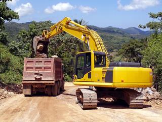 Dominikanische republik - Straßenbauarbeiten