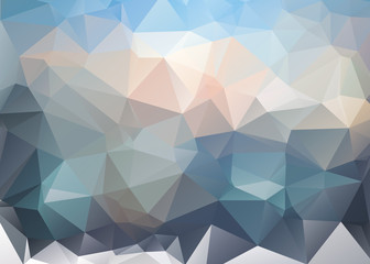 Abstract  geometric colorful background.Landscape with clouds top of mountains.