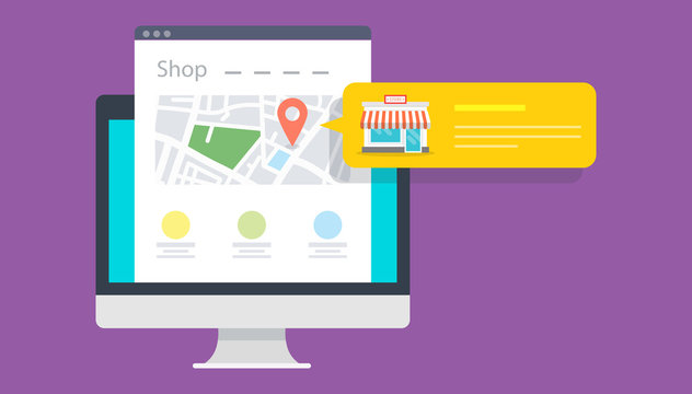 Local Store Marketing flat design concept. Vector illustrations