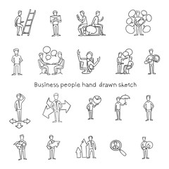 Office People Hand Drawn