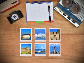 Six travel foto card.