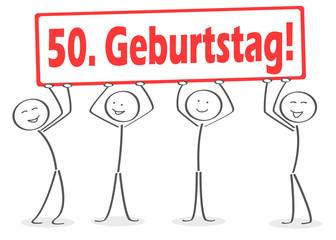 Perfekt 50. Geburtstag Strichmännchen