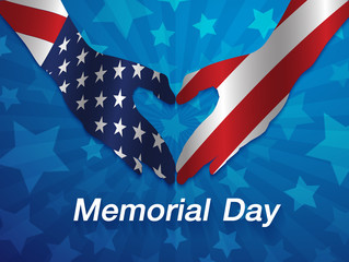 Vector Illustration of Memorial Day Design