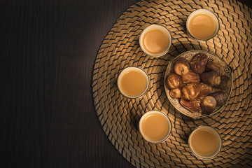Dates with Arabian coffee