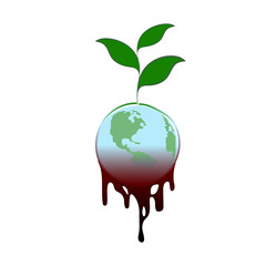 sign planet earth disaster nature of the power plant