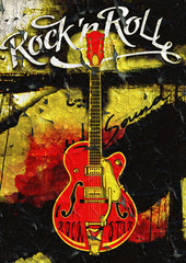Guitar Rock'n Roll poster design