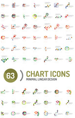 Mega collection of chart business logos