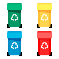 Waste bin set vector illustration
