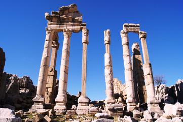 Antique ruins of Faqra, Lebanon