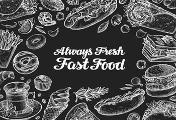 fast food. vector design template menu restaurant, cafe