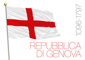 republic of genoa historical flag, italy