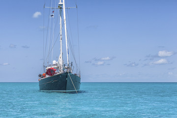 Nice cruise yacht in the Bahamas