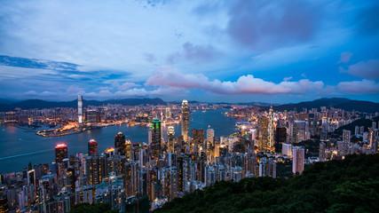 香港 ビクトリアピークからの風景 夕景・夜景
