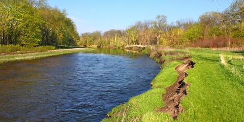 Kishwaukee River Erosion Illinois Wall mural
