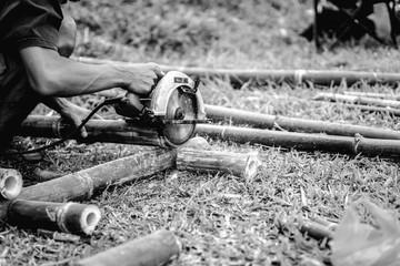 Thai bamboo carpenter