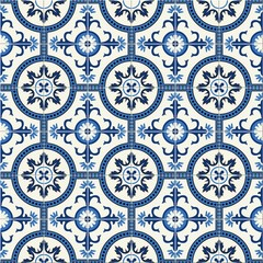 Gorgeous seamless  pattern  white Turkish, Moroccan, Portuguese  tiles, Azulejo, Arabic ornament. Islamic art.   Can be used for wallpaper, pattern fills, web page background,surface textures.