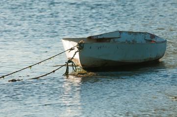 Fishing boat closeup. Mauritius Island.