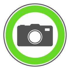 Erlaubnisschild Kamera
