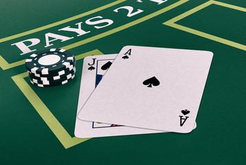 gambling, blackjack game