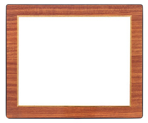 Antique woodenframe isolated on white