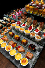 Restaurant dessert Tables in the buffet party