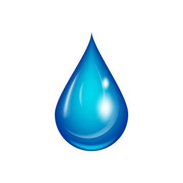Water drop vector illustration.