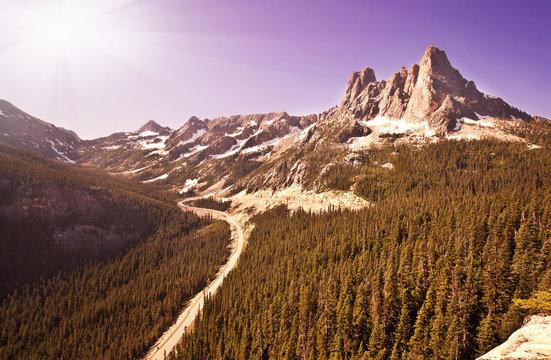 Beautiful Mountain Peak at North Cascade