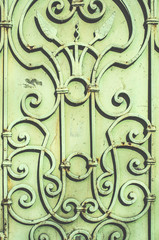 Metal ornamental fence