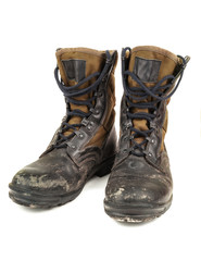 old black military boots