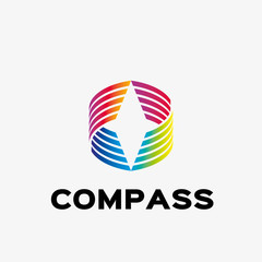 Abstract compass logo. Abstract business logo design template. Logo template editable for your business.