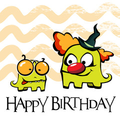 Happy Birthday card clown