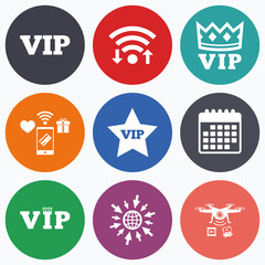 VIP icons. Very important person symbols.