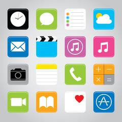 Touchscreen smart phone mobile application button icon Vector illustration