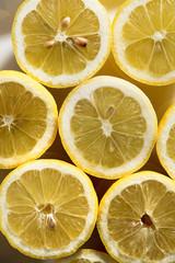 Fresh halved lemons