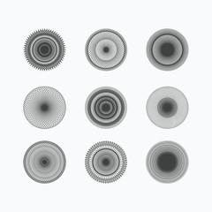 Spirograph Vector Set