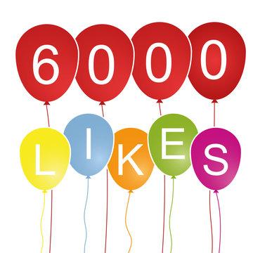 6000 Likes - Luftballons