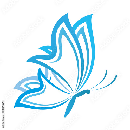 quotcool butterfly logoquot stock image and royaltyfree vector