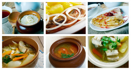 Slavonic Russian traditional  cuisine