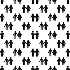 Girl and boy pattern seamless