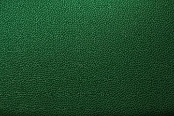 Green leather texture, Green leather bag, Green leather background.