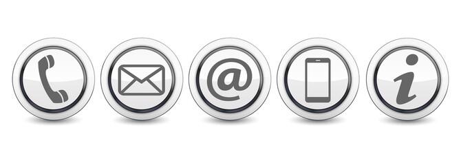 Kontakt Symbole Icons Buttons
