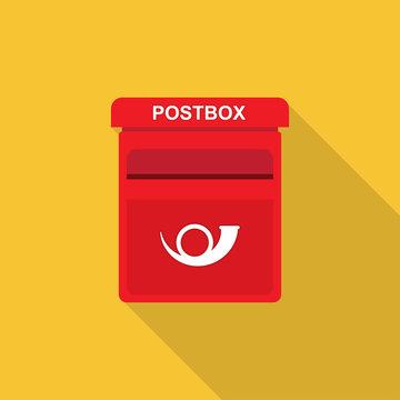postbox Flat design.