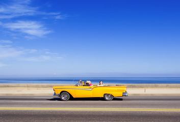 HAVANA,CUBA - NOVEMBER 9, 2015 : Vintage american car at the Mal