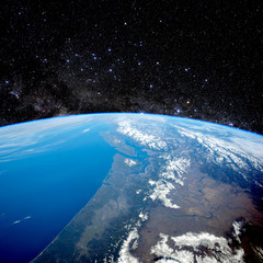 Planet Earth from space. Elements of this image furnished by NASA