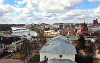 Top view of Yaroslavl old town