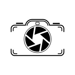 camera icon on a white background