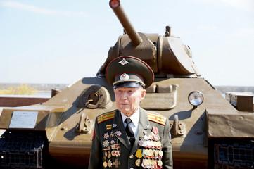 Veteran of the Battle of Stalingrad colonel Vladimir Turov
