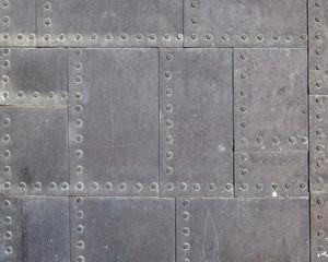 vintage metallic square pattern suface closeup
