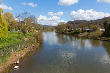 Wye valley of the River Wye Monmouth Monmouthshire Wales uk