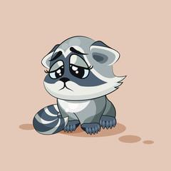 Raccoon cub sad